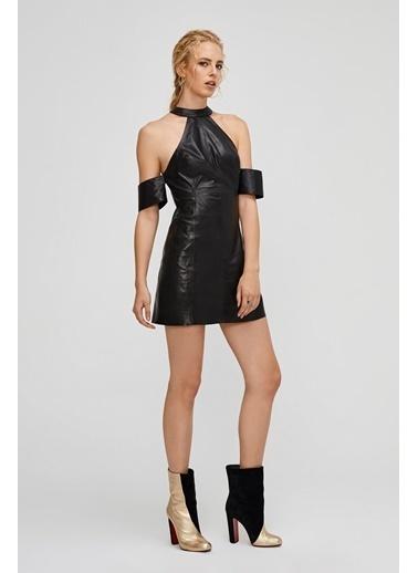 Deri Company Elbise Siyah